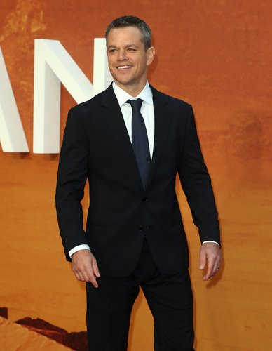 Matt Damon attends the European premiere of 'The Martian' at Odeon Leicester Square on September 24, 2015 in London