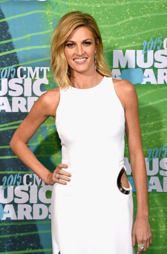 Erin Andrews attends the 2015 CMT Music awards at the Bridgestone Arena on June 10, 2015 in Nashville