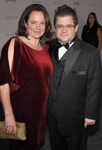 Patton Oswalt and wife Michelle McNamara attend LACMA Art + Film Gala Honoring Clint Eastwood and John Baldessari Presented By Gucci at Los Angeles County Museum of Art on November 5, 2011 in Los Angeles