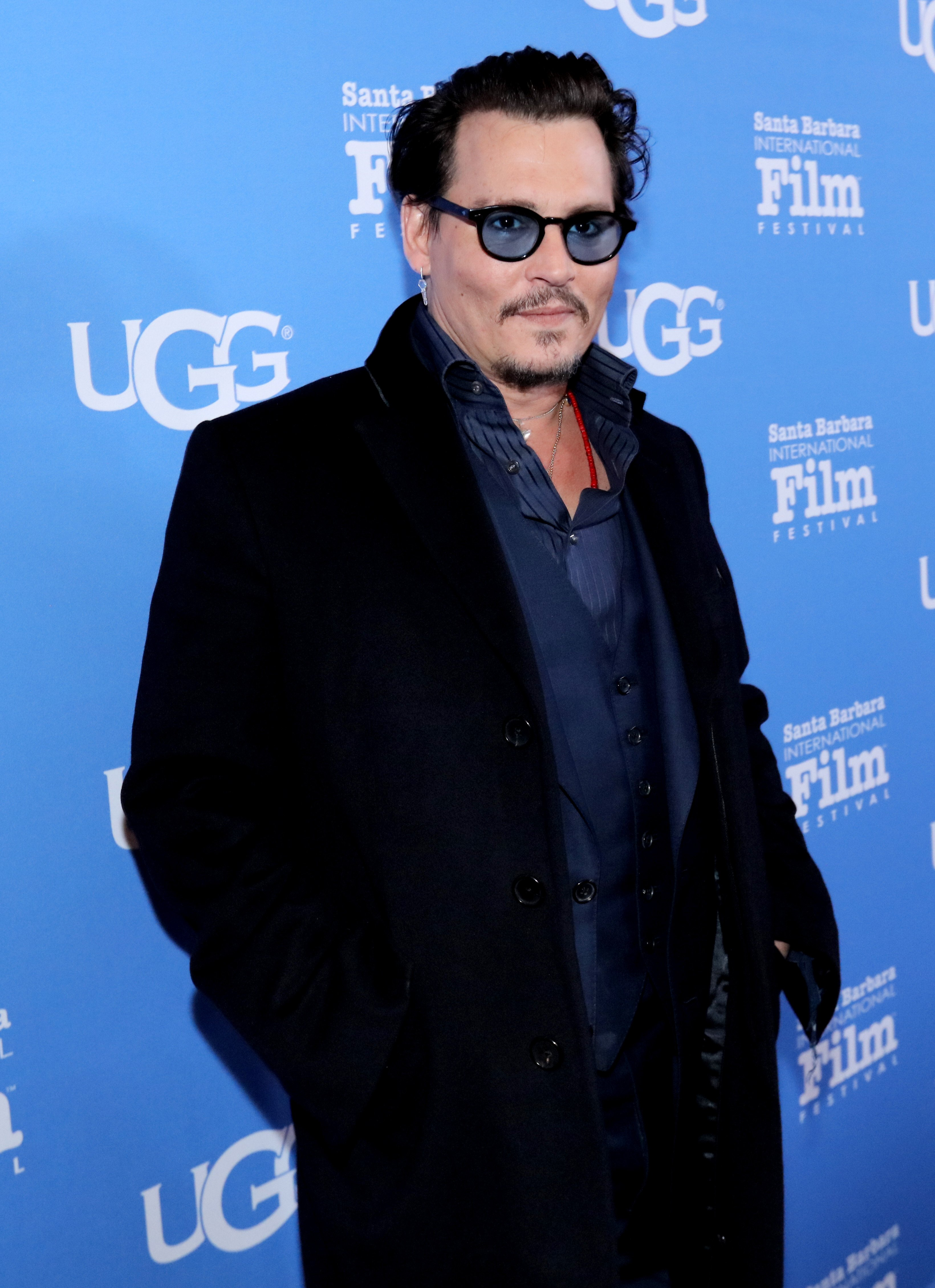 Johnny Depp attends the Maltin Modern Master award tribute during the 31st Santa Barbara International Film Festival at the Arlington Theater on February 4, 2016 in Santa Barbara
