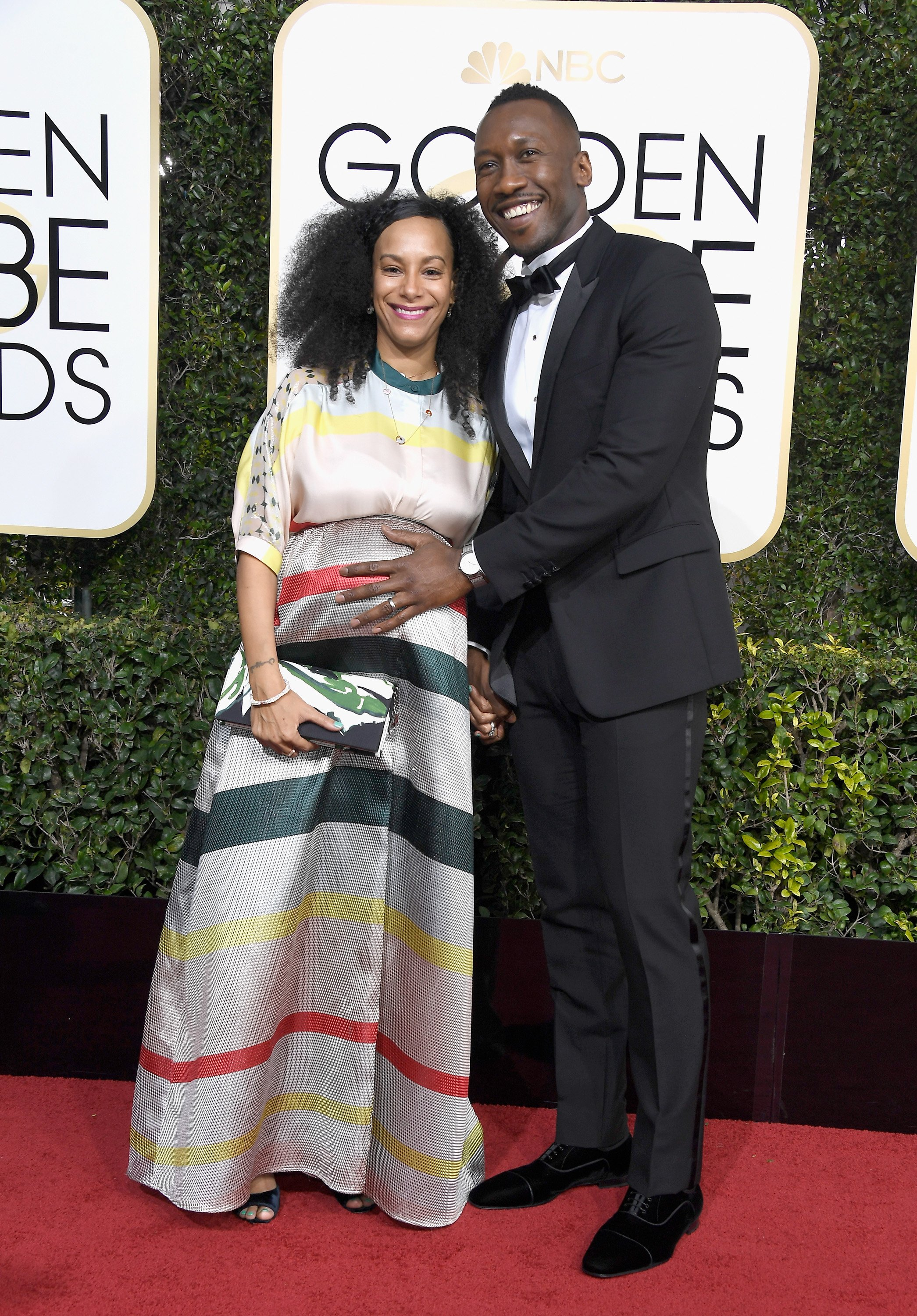Mahershala Ali and Amatus Sami-Karim attend the 74th Annual Golden Globe Awards at The Beverly Hilton Hotel on January 8, 2017 in Beverly Hills
