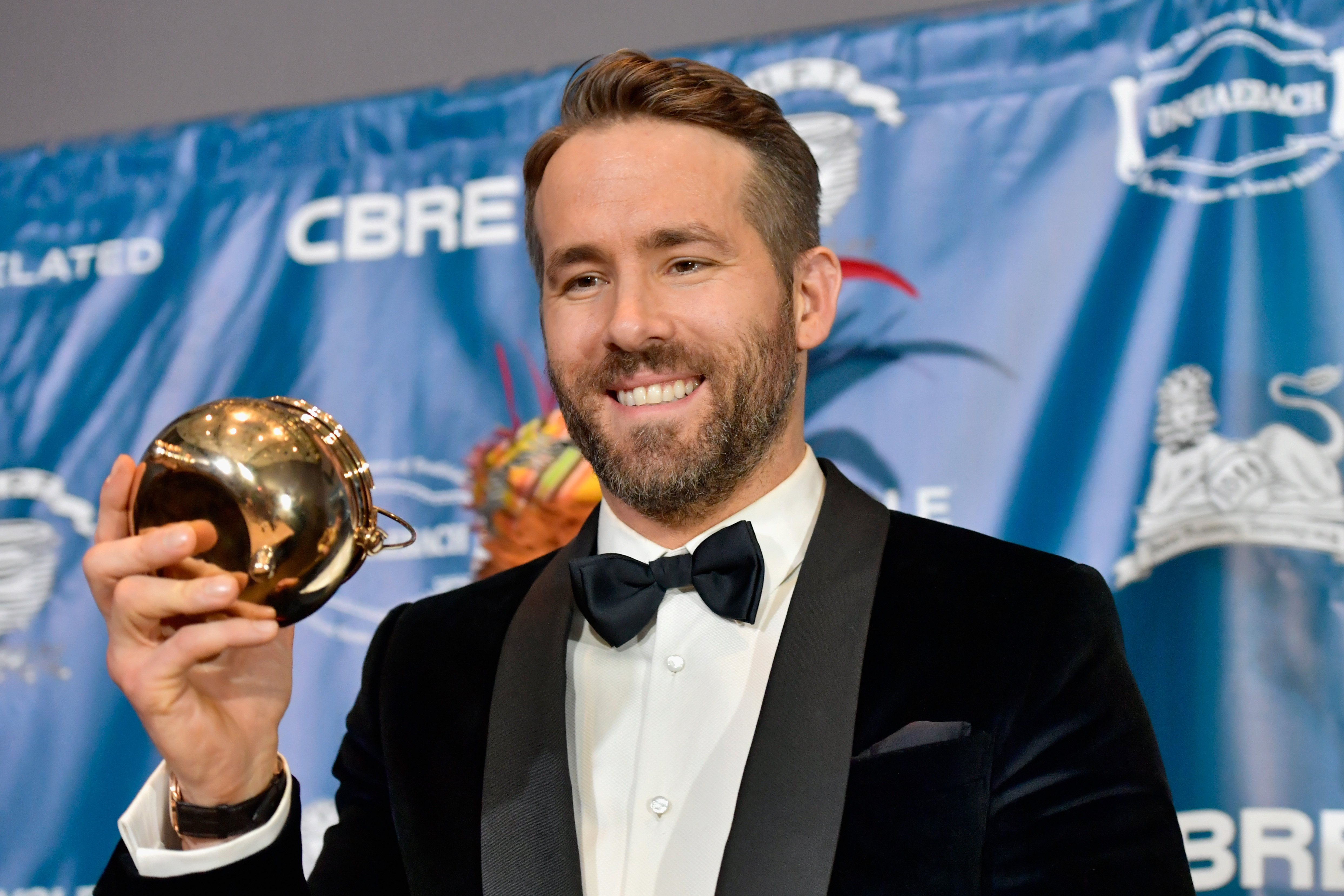 Hasty Pudding Theatricals honors Ryan Reynolds as 2017 Man Of The Year on February 3, 2017 in Cambridge, Massachusetts