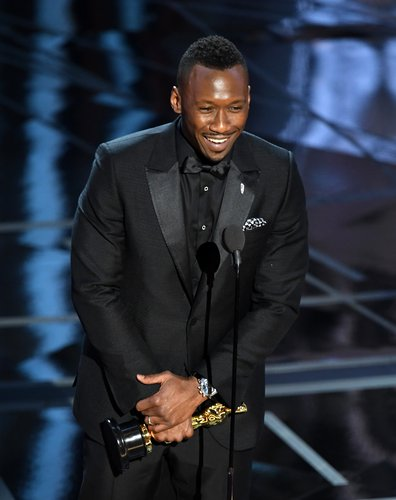 Mahershala Ali accepts Best Supporting Actor for 'Moonlight' onstage during the 89th Annual Academy Awards at Hollywood & Highland Center on February 26, 2017 in Hollywood