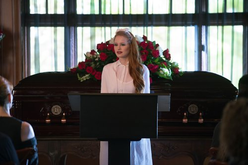 Madelaine Petsch as Cheryl Blossom in 'Riverdale' Season 1, Episode 5 -- 'Heart of Darkness'