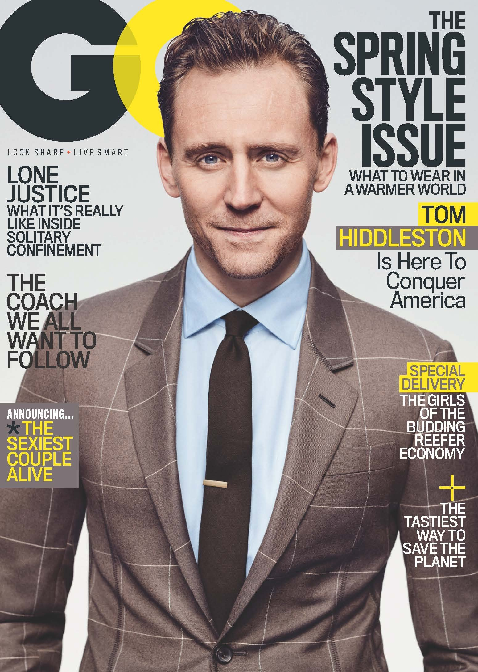 Tom Hiddleston covers GQ's March Issue
