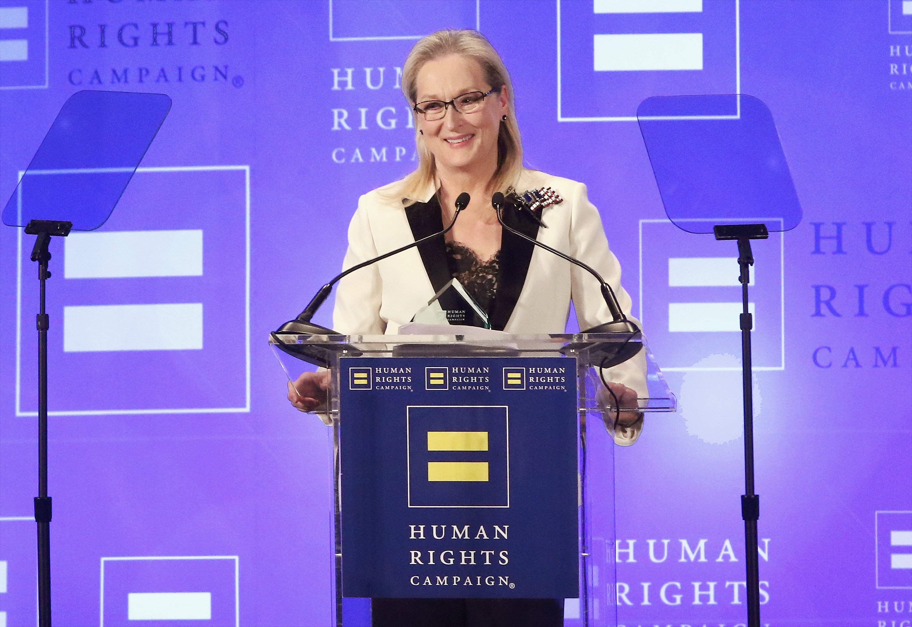 Meryl Streep attends the 2017 Human Rights Campaign Greater New York Gala at The Waldorf Astoria on February 11, 2017 in New York City