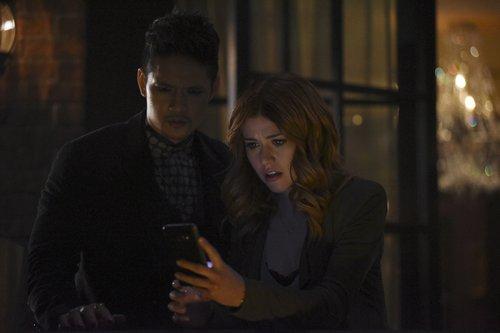 Harry Shum Jr. and Katherine McNamara in the 'Shadowhunters' midseason finale