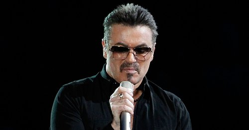 George Michael performs on stage in concert on the first night of his 'George Michael Live' Australian tour at Burswood Dome on February 20, 2010 in Perth, Australia