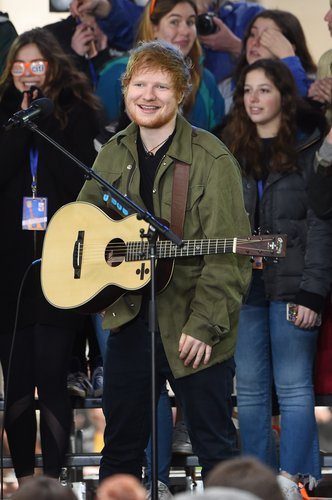 Ed Sheeran performs on NBC's 'Today' at Rockefeller Plaza on March 8, 2017 in New York City