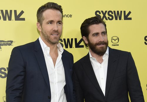 Ryan Reynolds and Jake Gyllenhaal attend the premiere of 'Life' at the Zach Theatre during the 2017 SXSW Conference And Festivals on March 18, 2017 in Austin, Texas