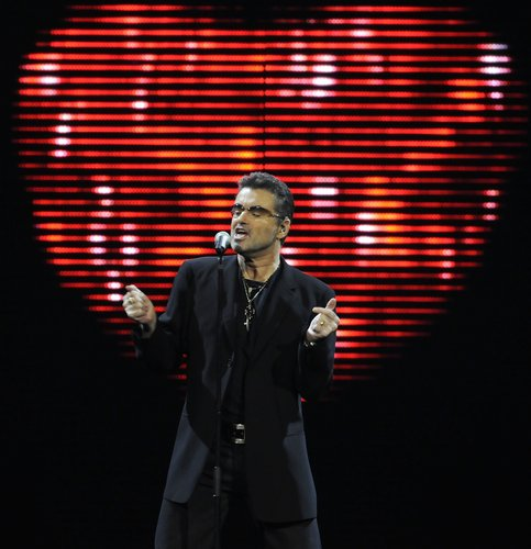 George Michael performs at the Bank Atlantic Center on August 3, 2008 in Sunrise, Florida