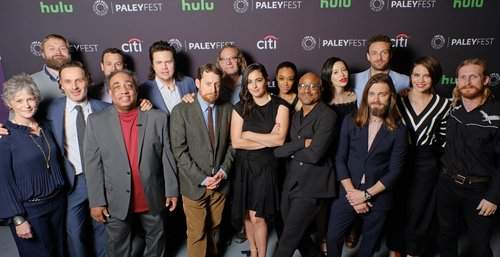 The cast and producers of 'The Walking Dead' at PaleyFest LA 2017 honoring 'The Walking Dead,' presented by The Paley Center for Media, at the Dolby Theatre on March 17, 2017 in Hollywood