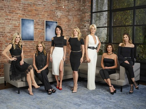 Tinsley Mortimer, Sonja Morgan, Bethenny Frankel, Ramona Singer, Dorinda Medley, Luann D'Agostino and Carole Radziwill of 'The Real Housewives of New York City'