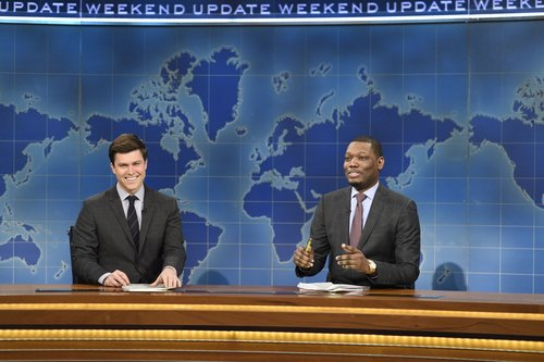 Colin Jost and Michael Che on 'Saturday Night Live's' 'Weekend Update,' March 2017
