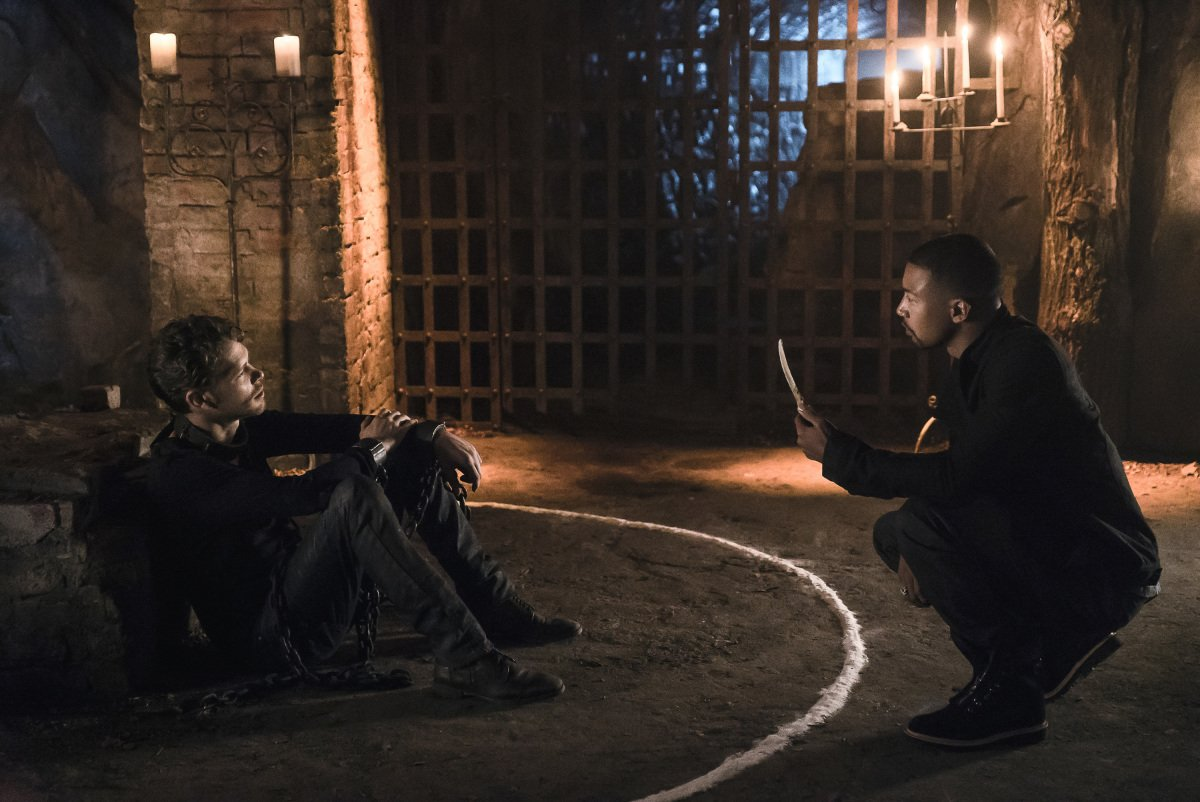 Joseph Morgan as Klaus Mikaelson and Charles Michael Davis as Marcel in 'The Originals' Season 4, Episode 1 -- 'Gather Up The Killers'