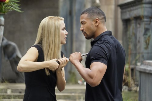 Claire Holt as Rebekah and Charles Michael Davis as Marcel in 'The Originals' Season 4
