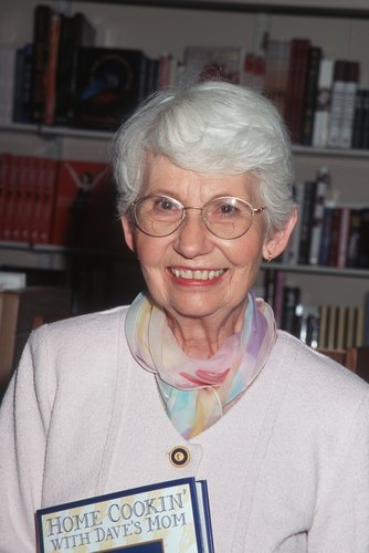Dorothy Letterman at a signing of her book, 'Home Cookin' with Dave's Mom,' April 19, 1996 at Waldenbooks in New York City