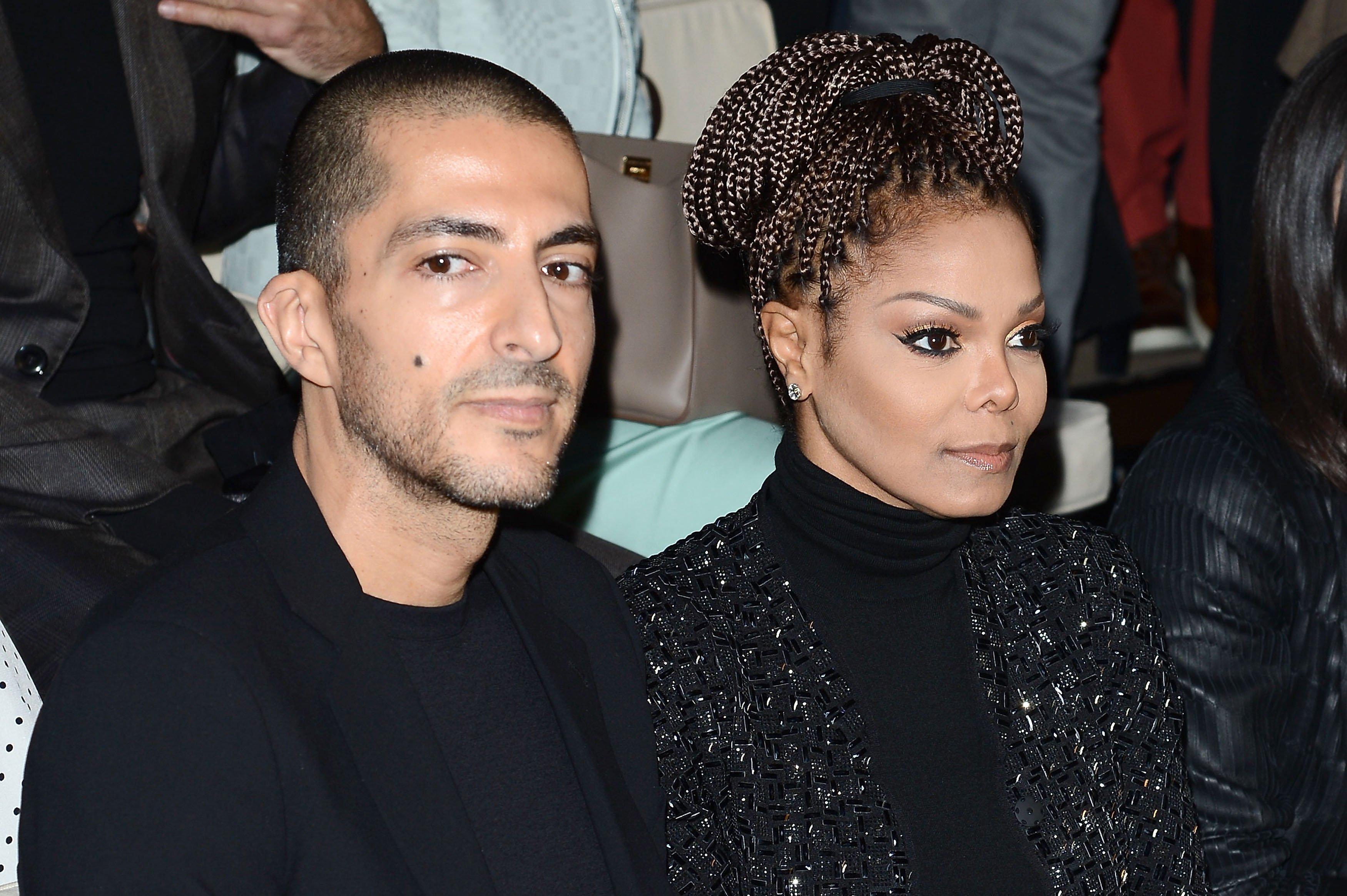 Wissam al Mana and Janet Jackson attend the Giorgio Armani fashion show during Milan Fashion Week Womenswear Fall/Winter 2013/14 on February 25, 2013 in Milan