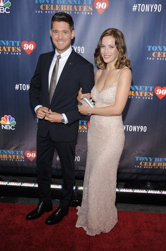 Michael Buble and Luisana Lopilato attend Tony Bennett Celebrates 90: The Best Is Yet To Come at Radio City Music Hall on September 15, 2016 in New York City