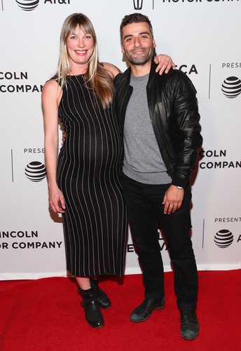 Elvira Lind and Oscar Isaac attend the 'Bobbi Jene' Premiere during 2017 Tribeca Film Festival at Cinepolis Chelsea on April 21, 2017 in New York City