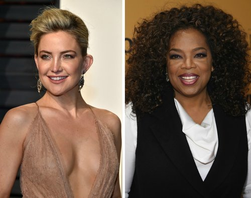 Kate Hudson and Oprah Winfrey