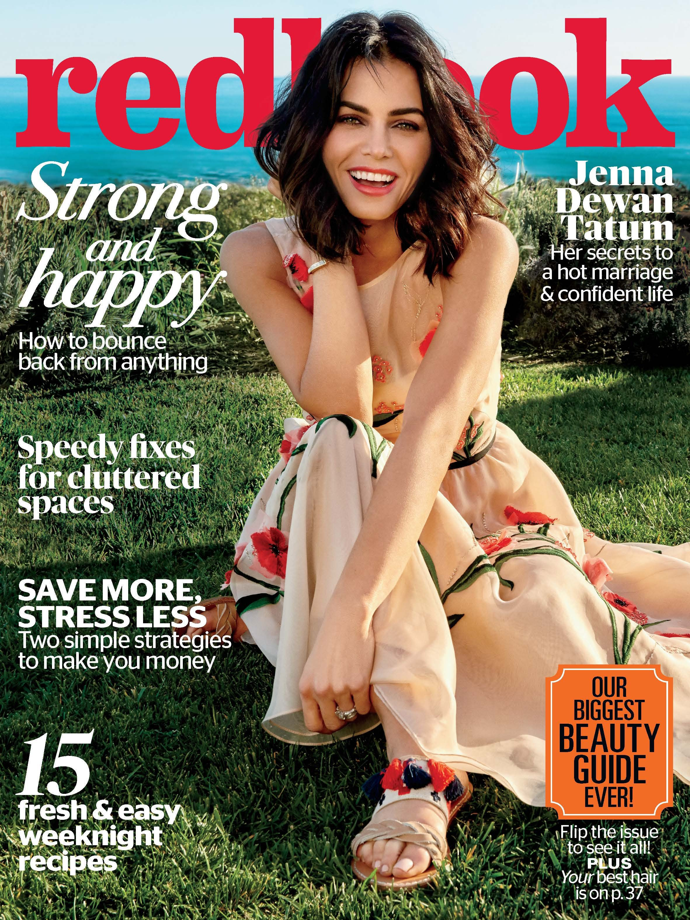 Jenna Dewan Tatum covers the May 2017 issue of Redbook.