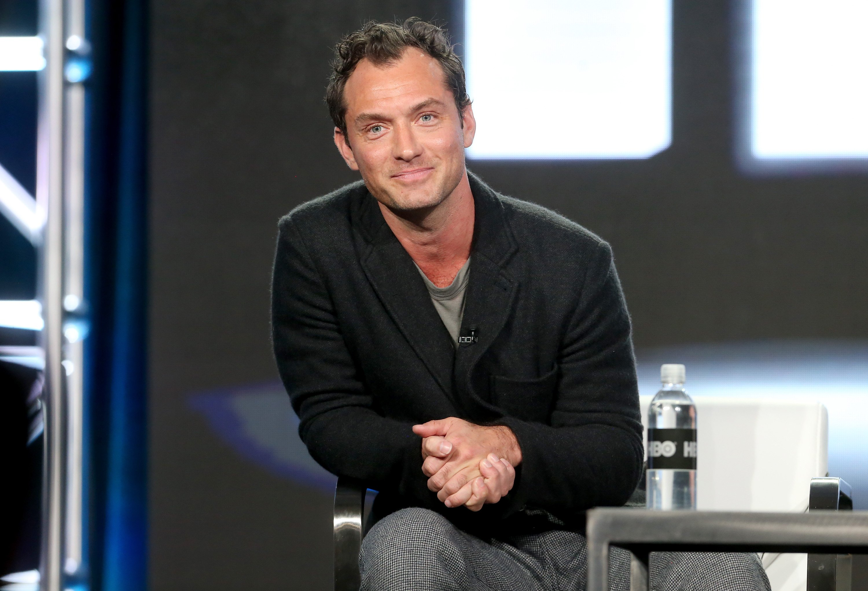 Jude Law of the series 'The Young Pope' speaks onstage during the HBO portion of the 2017 Winter Television Critics Association Press Tour at the Langham Hotel on January 14, 2017 in Pasadena