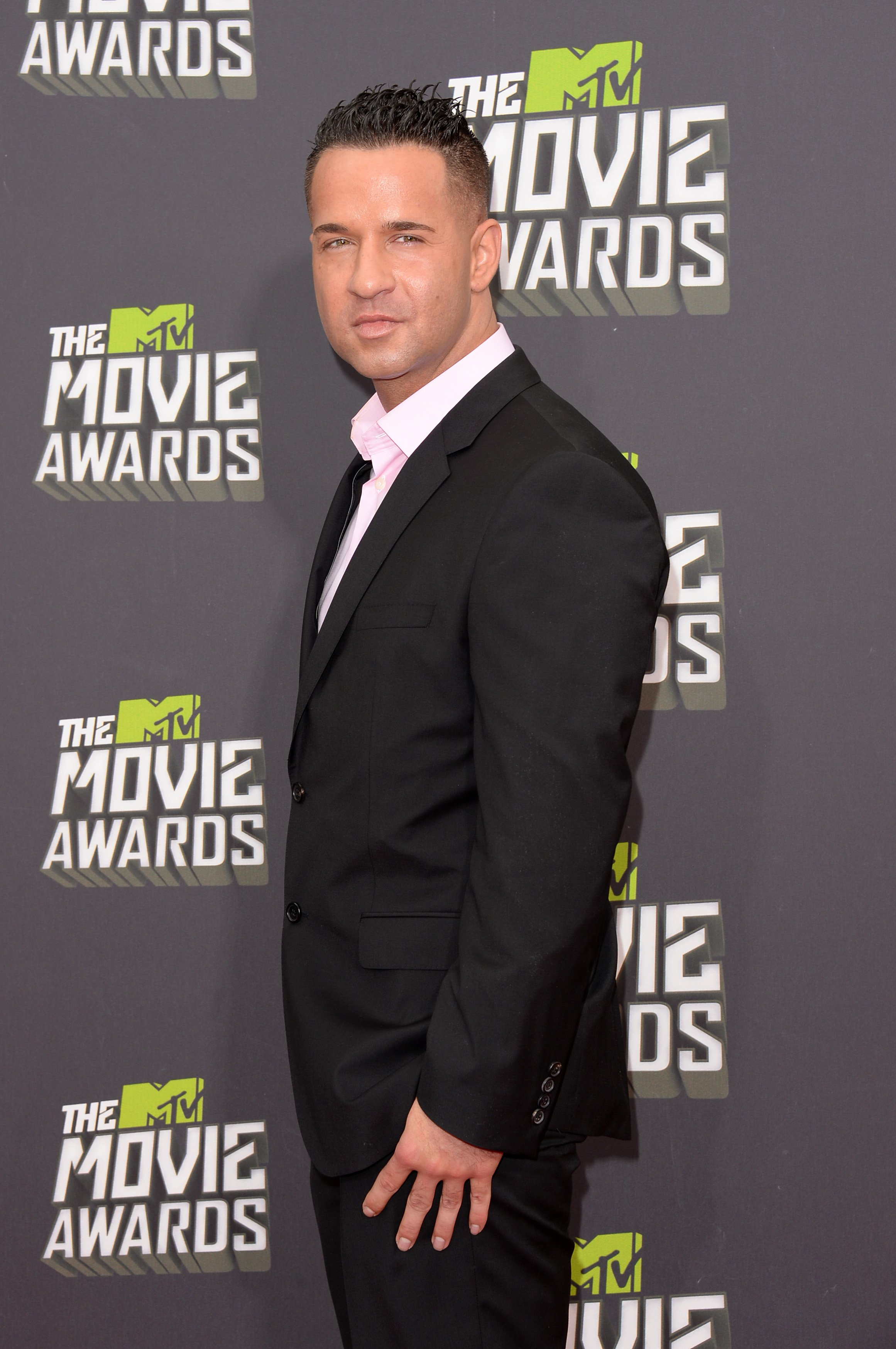 Mike 'The Situation' Sorrentino arrives at the 2013 MTV Movie Awards at Sony Pictures Studios on April 14, 2013 in Culver City, Calif