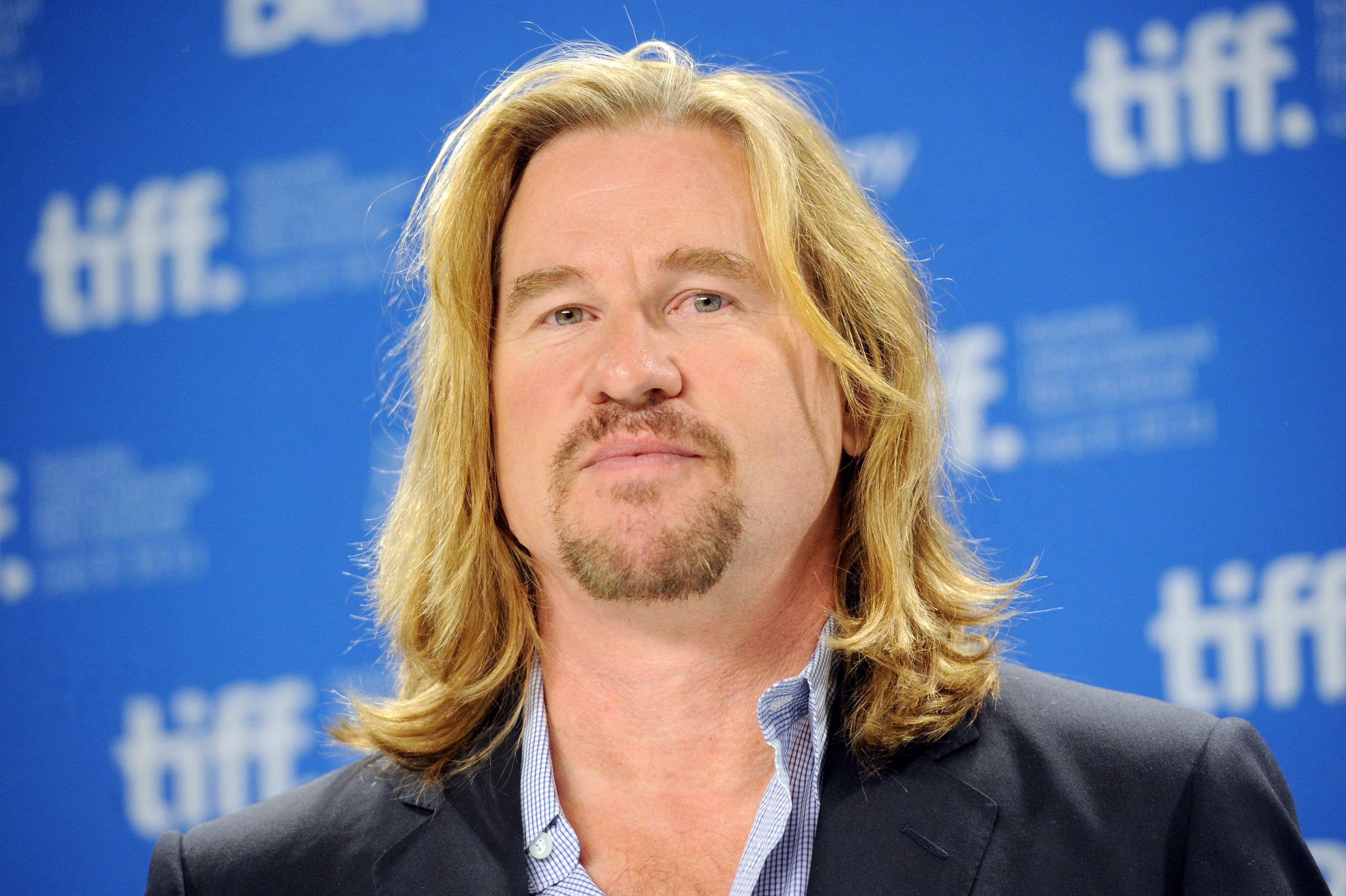 Val Kilmer speaks onstage at the 'Twixt' press conference during the 2011 Toronto International Film Festival at TIFF Bell Lightbox on September 12, 2011 in Toronto