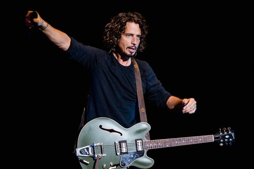 Chris Cornell of Soundgarden performs on stage during the 2014 Lollapalooza Brazil at Autodromo de Interlagos on April 6, 2014 in Sao Paulo