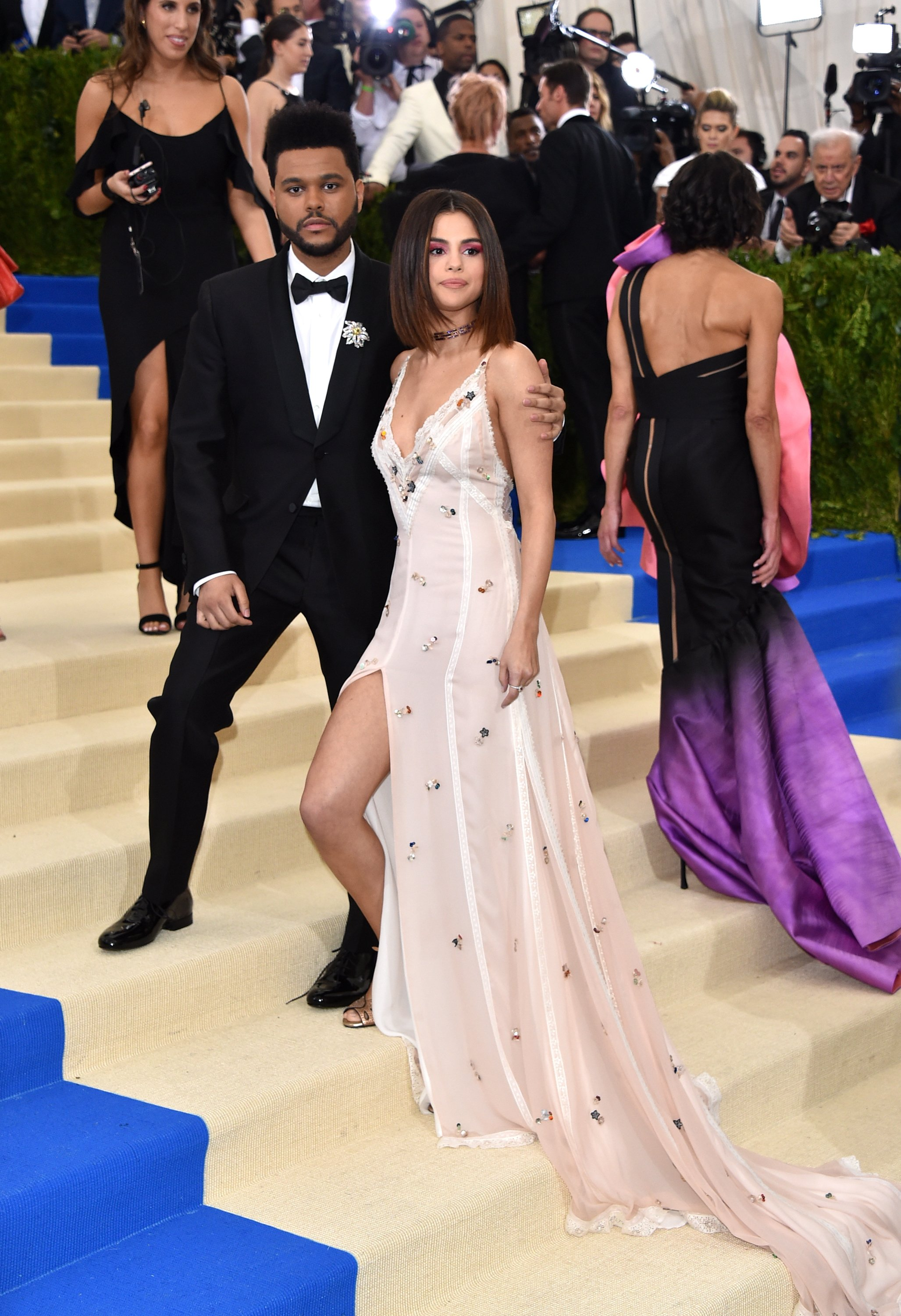 The Weeknd and Selena Gomez attend 'Rei Kawakubo/Comme des Garcons: Art Of The In-Between' Costume Institute Gala at Metropolitan Museum of Art on May 1, 2017 in New York City.