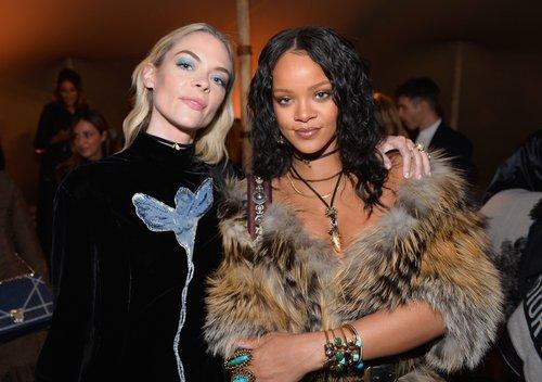 Jaime King and Rihanna at Christian Dior Cruise 2018 Show and After Party at Gladstone's Malibu on May 11, 2017 in Malibu, Calif.