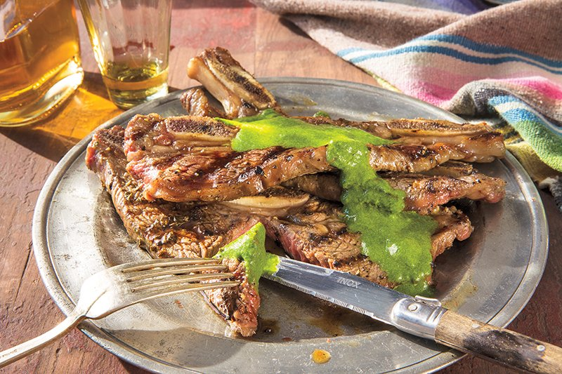 Grilled Beef Strips from 'Casa Marcela' by Marcela Valladolid and Coral Von Zumwalt. Copyright © 2017 by Marcela Valladolid and Coral Von Zumwalt. Used by permission of Houghton Mifflin Harcourt. All rights reserved.