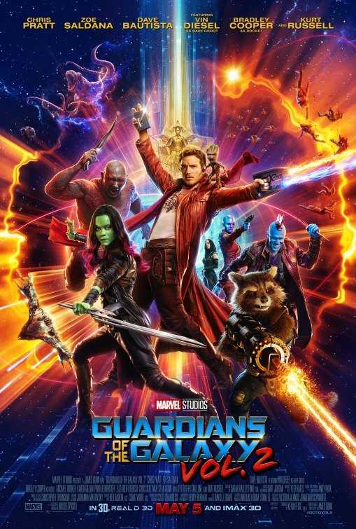 The official poster for 'Guardians of the Galaxy Vol. 2'
