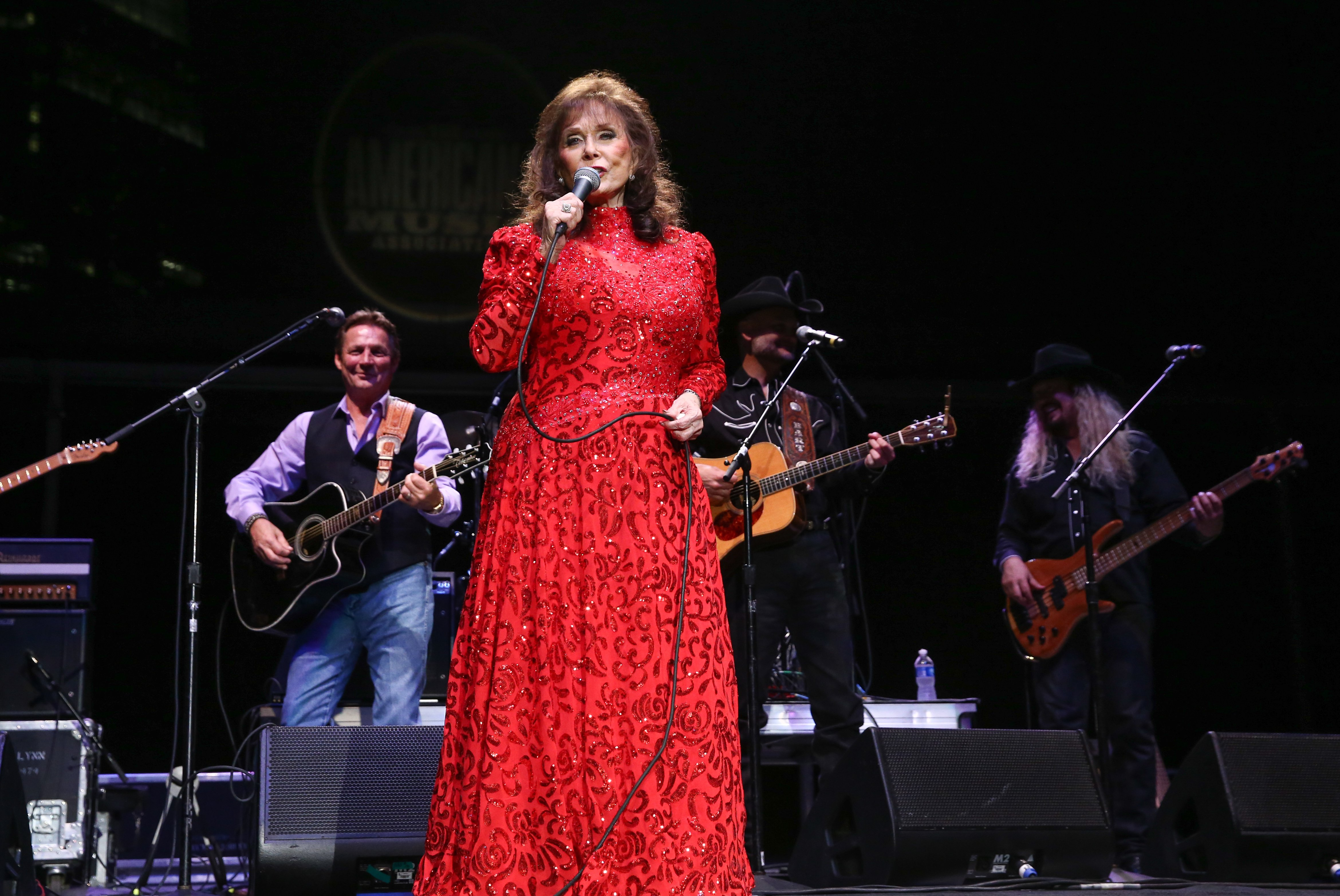Loretta Lynn performs during the 16th Annual Americana Music Festival & Conference at Ascend Amphitheater on September 19, 2015 in Nashville