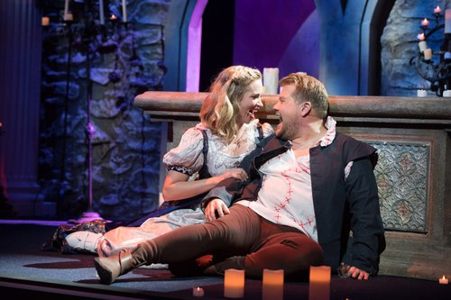 Emily Blunt as Juliet and James Corden as Romeo on 'The Late Late Show with James Corden'