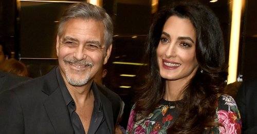 George Clooney and Amal Clooney attend the Netflix special screening and reception of 'The White Helmets' at the Bvlgari Hotel on January 9, 2017 in London