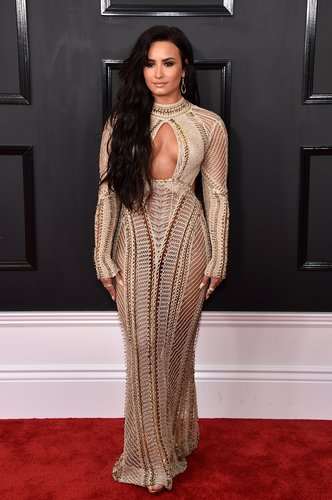 Demi Lovato attends The 59th Grammy Awards at Staples Center on February 12, 2017 in Los Angeles