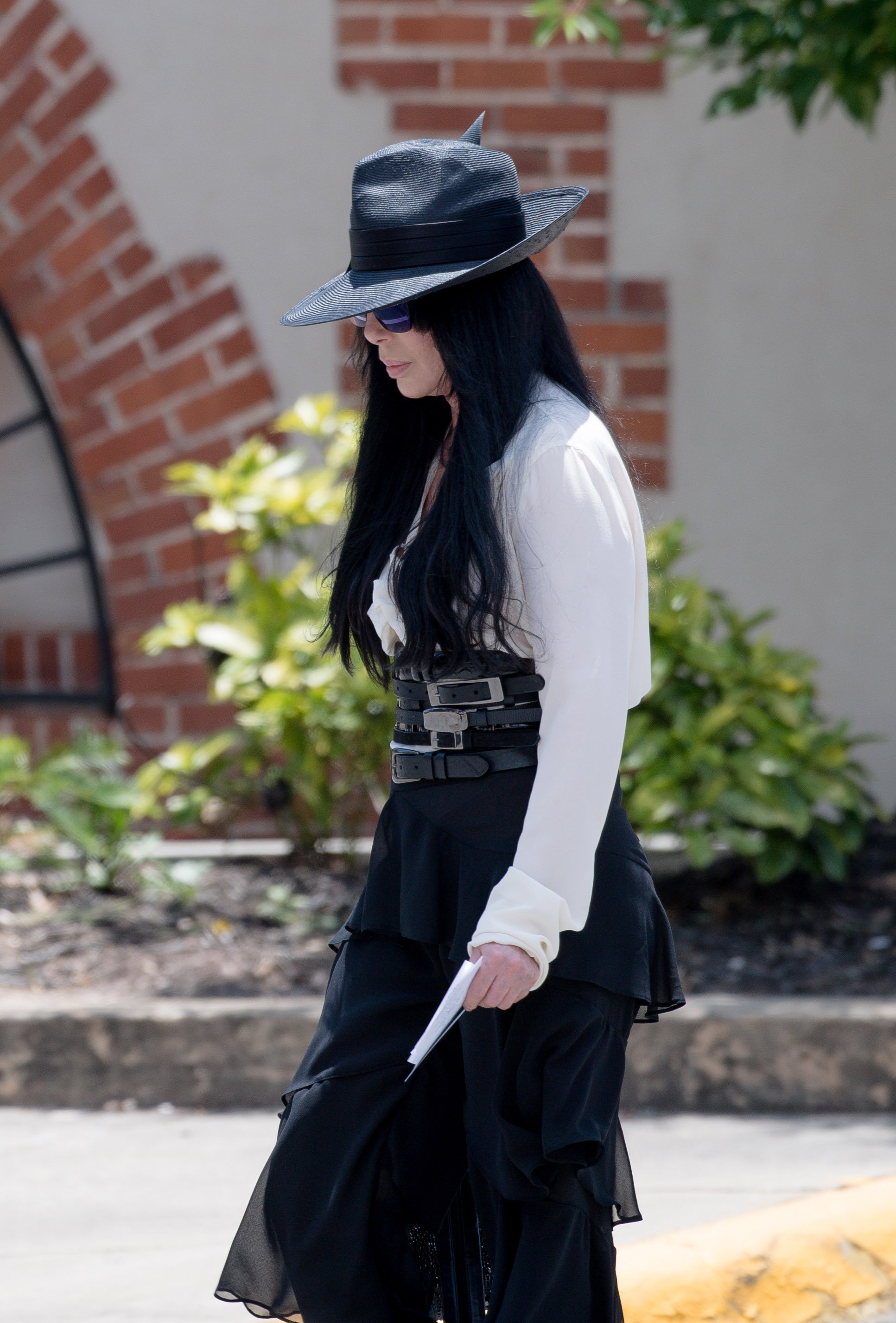 Cher attends the Gregg Allman funeral on June 3, 2017 in Macon, Georgia