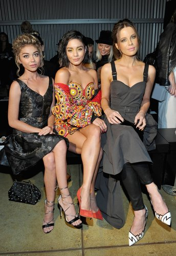Sarah Hyland, Vanessa Hudgens and Kate Beckinsale attend Moschino Spring/Summer 18 Menswear and Women's Resort Collection at Milk Studios on June 8, 2017 in Hollywood