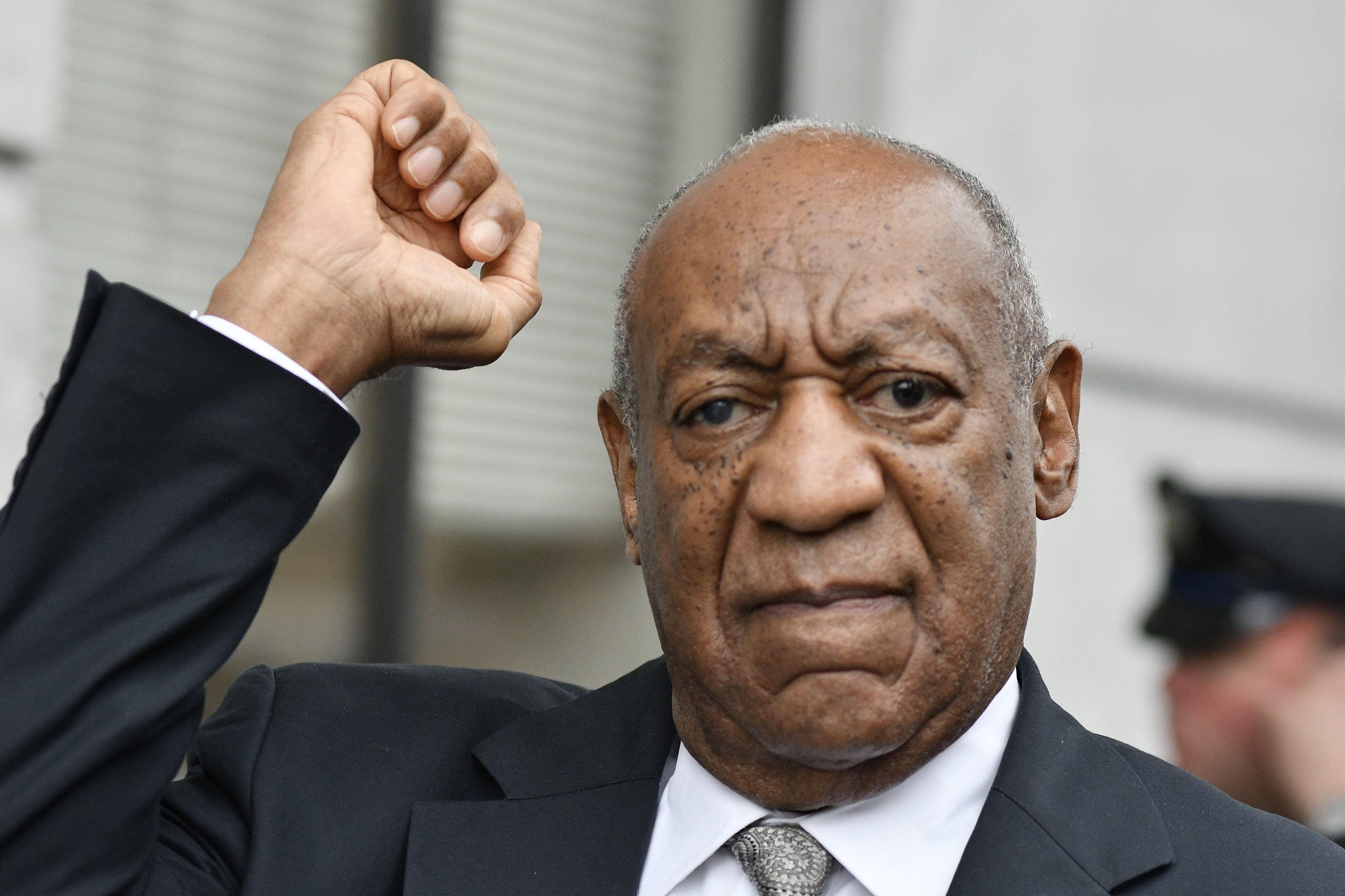 Bill Cosby reacts after Judge Steven O'Neill declares a mistrial in the aggravated indecent assault trial of entertainer Bill Cosby, at Montgomery County Courthouse, in Norristown, Pa., on June 17, 2017