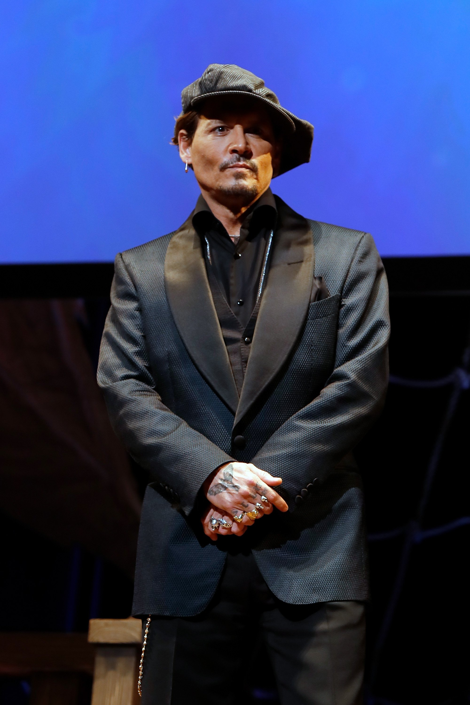 Johnny Depp attends the Japan premiere of 'Pirates Of The Caribbean: Dead Men Tell No Tales' at the Shinagawa Prince Hotel on June 20, 2017 in Tokyo