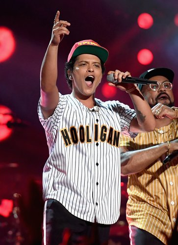 Bruno Mars performs onstage at the 2017 BET Awards at Microsoft Theater on June 25, 2017 in Los Angeles