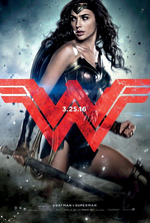 The Gal Gadot Wonder Woman character poster for 'Batman v Superman'