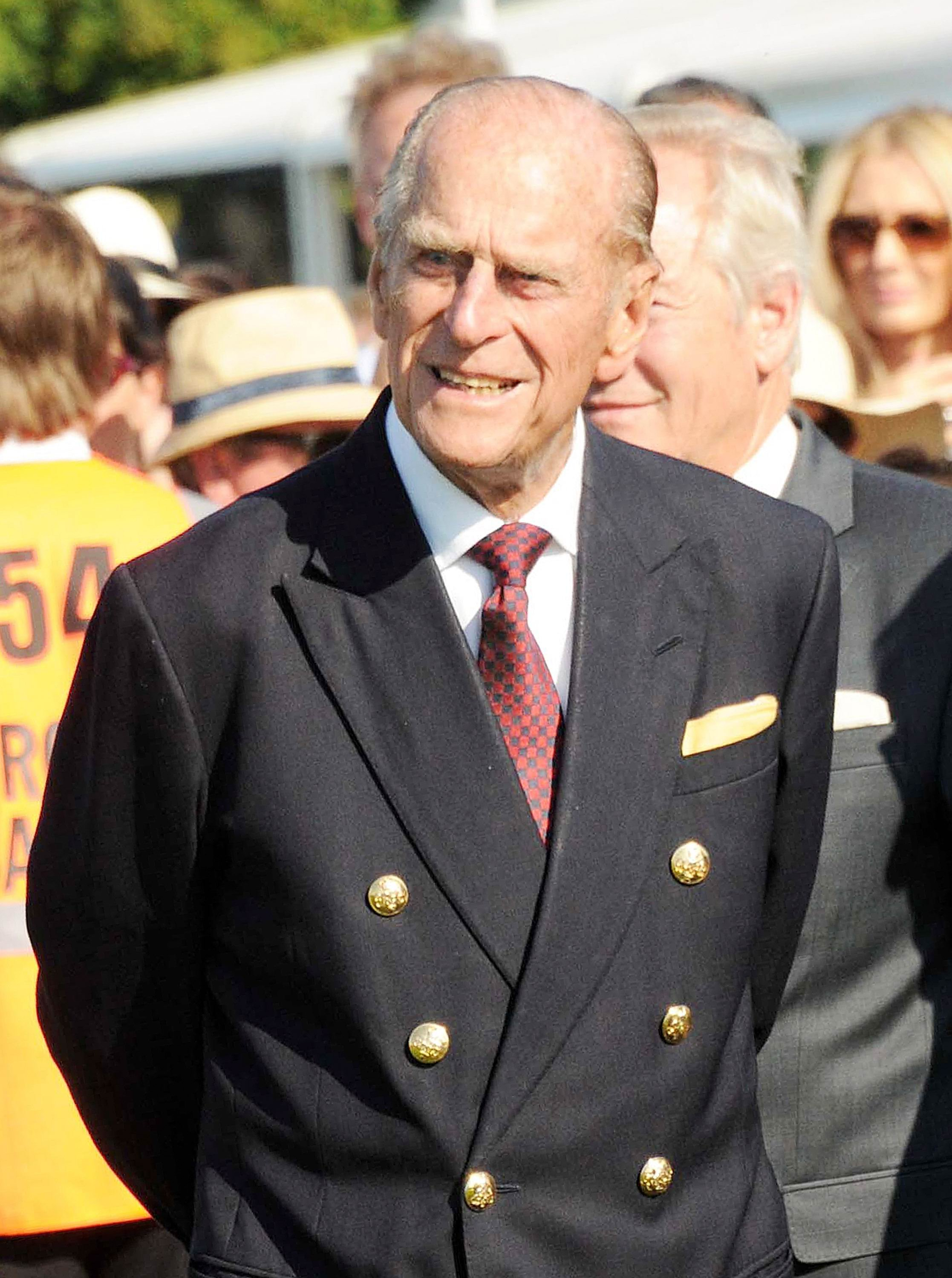 Prince Philip, Duke of Edinburgh, attends the Audi International Guards Polo at Guards Polo Club in Egham, United Kingdom on July 22, 2012