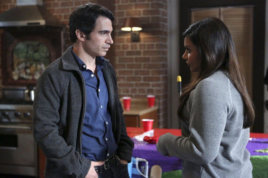 Chris Messina as Danny and Mindy Kaling as Mindy in 'The Mindy Project'