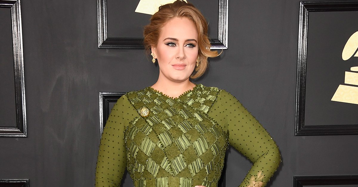 Adele attends The 59th Grammy Awards at STAPLES Center on February 12, 2017 in Los Angeles