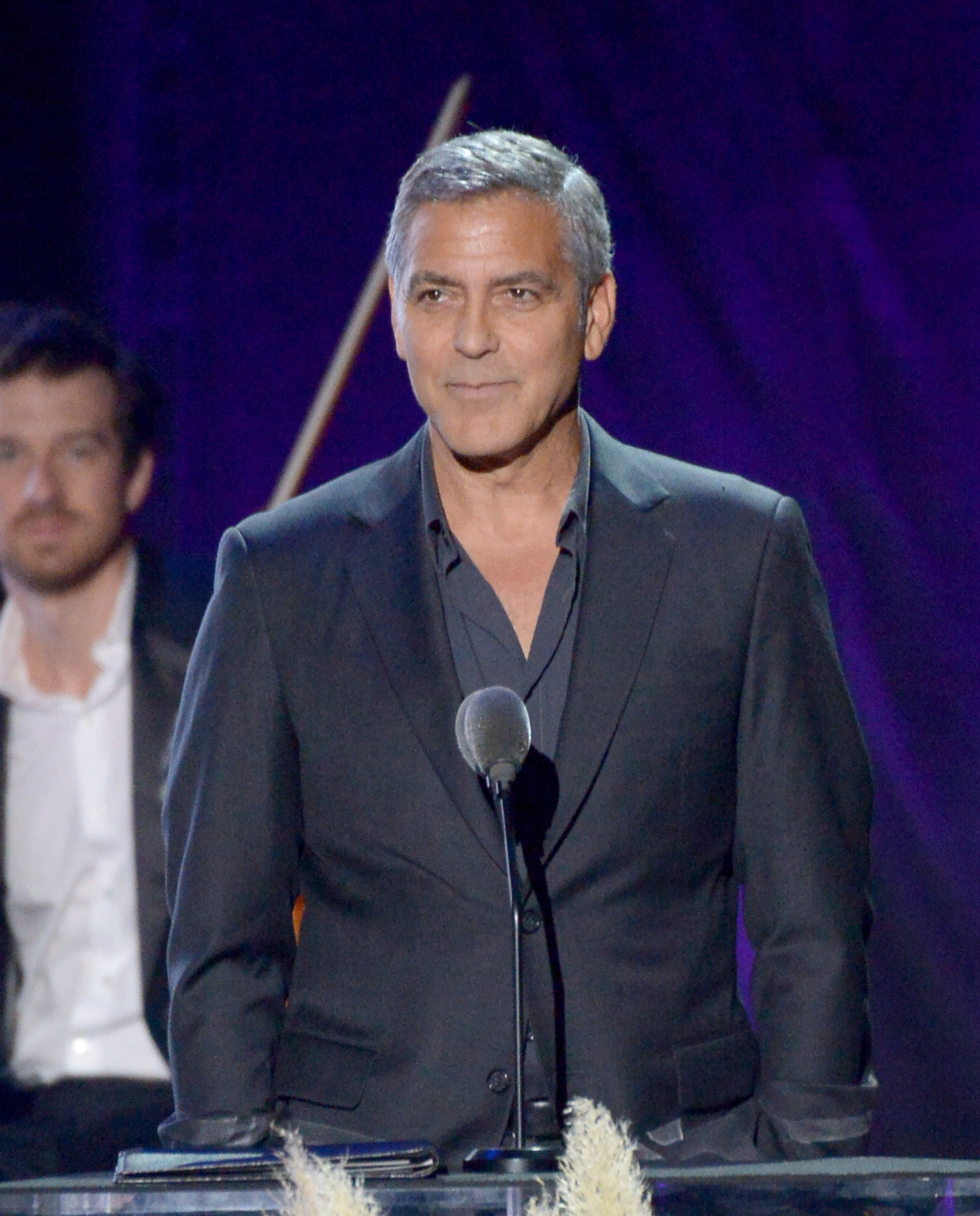 George Clooney speaks onstage during the MPTF 95th anniversary celebration with 'Hollywood's Night Under The Stars' at MPTF Wasserman Campus on October 1, 2016 in Los Angeles