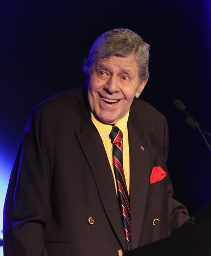 Jerry Lewis accepts the 2015 Casino Entertainment Legend Award at Global Gaming Expo's (G2E) Casino Entertainment Awards at Vinyl inside the Hard Rock Hotel & Casino on September 30, 2015 in Las Vegas, Nev.