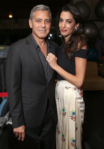 George Clooney and Amal Clooney attend the MPTF 95th anniversary celebration with 'Hollywood's Night Under The Stars' at MPTF Wasserman Campus on October 1, 2016 in Los Angeles